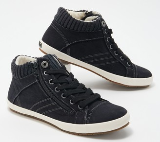 Taos Vintage-Style Canvas Lace-Up Sneakers- Startup
