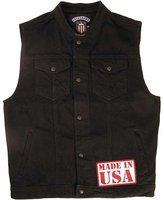 Legendary USA Men's Revolution Denim Motorcycle Vest - Made in USA-2XL