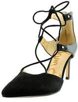 Sam Edelman Taylor Women Pointed Toe Leather Black Heels.