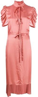 Ann Demeulemeester Ruffled Details Asymmetric Dress