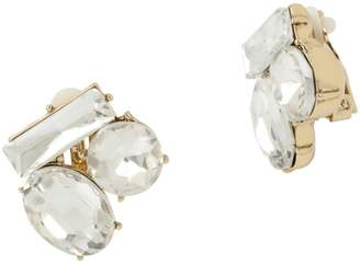 Miriam Haskell Stone Cluster Clip-On Earrings