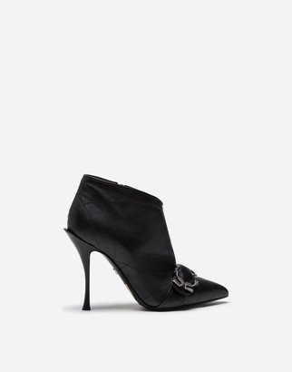 Dolce & Gabbana Quilted Nappa Ankle Boots