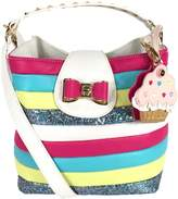 Betsey Johnson Candy Striper Cupcake Bucket Bag