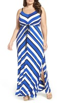 City Chic Plus Size Women's Stripe Maxi Dress