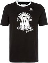 Maison Margiela monochrome printed ringer T-shirt - men - Cotton - 50