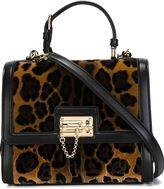 Dolce & Gabbana medium 'Monica' tote - women - Leather/Velvet - One Size