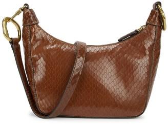 STAUD Holt Brown Leather Shoulder Bag