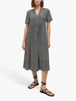 Thumbnail for your product : MANGO Ditsy Floral Print Empire Waist Midi Dress, Black/Multi