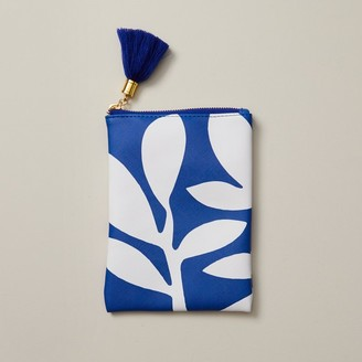 Indigo Paper Large Pencil Pouch Boho Bright Palm Blue
