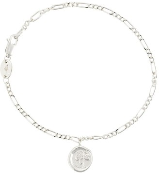 Charm & Chain Northskull Rose Seal charm chain bracelet