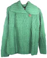 Carraigdonn Carraig Donn Ladies Patchwork Cardigan, Kiwi