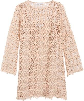 ENGLISH FACTORY Lace Long Sleeve Minidress