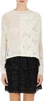 Gary Graham Women's Alpaca Knit & Lace Open-Back Sweater