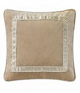 Waterford Ansonia Ribbon-Framed Velvet Square Pillow