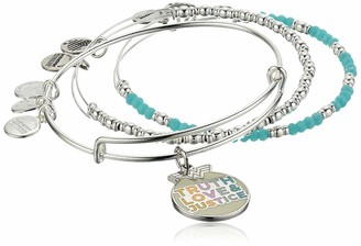 Alex and Ani Wonder Woman Truth Love & Justice Set of 3 SS