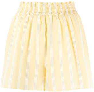 Roberto Collina high-waisted striped shorts