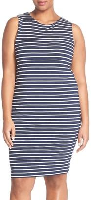Tart 'Lindy' French Terry Sleeveless Body-Con Dress (Plus Size)