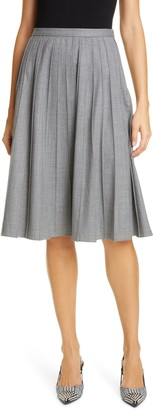 Michael Kors Pleated A-Line Skirt