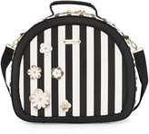 Betsey Johnson Hat Box Round Weekender Bag, Black/Multi
