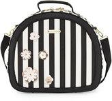 Betsey Johnson Hat Box Round Weekender Bag, Black/Multi