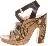 Dries Van Noten Python Ankle Strap Sandals