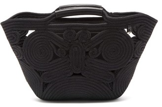 Anya Hindmarch Trivet Small Braided-rope And Leather Tote - Womens - Black