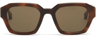 Mykita X Maison Margiela Square Acetate Sunglasses - Brown