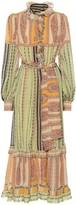 Etro Printed silk midi dress