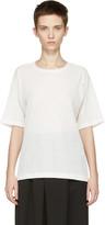 Issey Miyake White Twisted Jersey T-Shirt