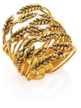 Aurelie Bidermann Wheat Cuff Bracelet