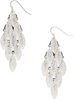 Carole Silvertone Chandalier Drop Earrings