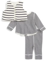 Petit Bateau Infant Boy's Stripe Vest, Tee & Leggings Set