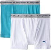 Tommy Bahama Men's 2 Pack Stretch Cotton Comfort Solid Boxer Brief