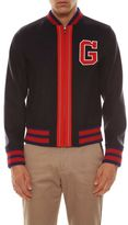 Gucci Spw Felt Blouson With Embroidy