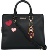 Moschino Faux Leather Bowling Bag