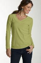 J. Jill Peruvian pima cotton long-sleeve v-neck tee