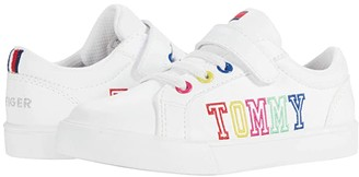 Tommy Hilfiger Arrin (Toddler) (White/Rainbow) Girl's Shoes
