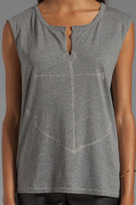 SUNDRY Anchor Sleeveless Tunisian Tank