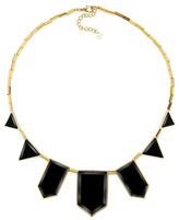 House Of Harlow Black Geometric Station Necklace