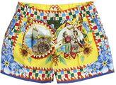 Dolce & Gabbana Taormina Printed Cotton Poplin Shorts