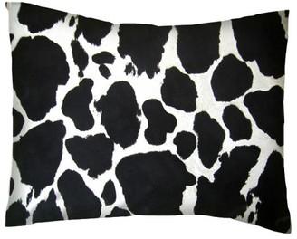 Sheetworld Twin Pillow Case - Percale Pillow Case - Black Cow