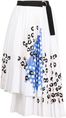 Ermanno Ermanno Multi-Print Detailed Pleated Skirt