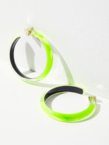 Free People Lucite Neon Hoops