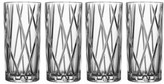 Orrefors City Set Of 4 Crystal Highball Glasses