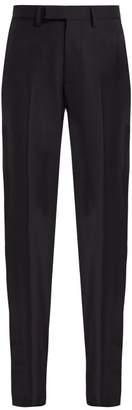 Raf Simons Slim-fit Wool Trousers - Womens - Dark Navy