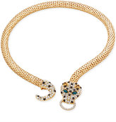 Thalia Sodi Gold-Tone Glitter Leopard Head Collar Necklace, Only at Macy's