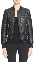 Versace Quilted Leather Bomber Jacket