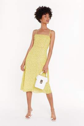 Nasty Gal Womens Plant Argue With That Floral Midi Dress - yellow - 14