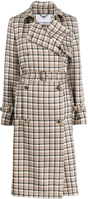 Paco Rabanne Plaid Trench Coat