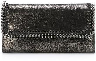 Stella McCartney metallic Falabella flap wallet